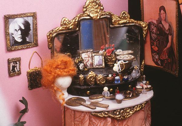 miniture vanity set in Madame's Boudouir