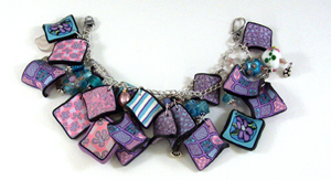 polymer clay quilt block charms
