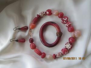 Polymer Clay Carnelian Jewelry